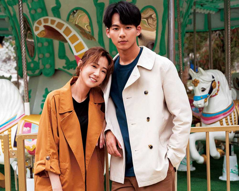 方志友在主演的電視劇《粉紅色時光》中,與吳念軒甜蜜談戀愛。(圖/TVBS提供)