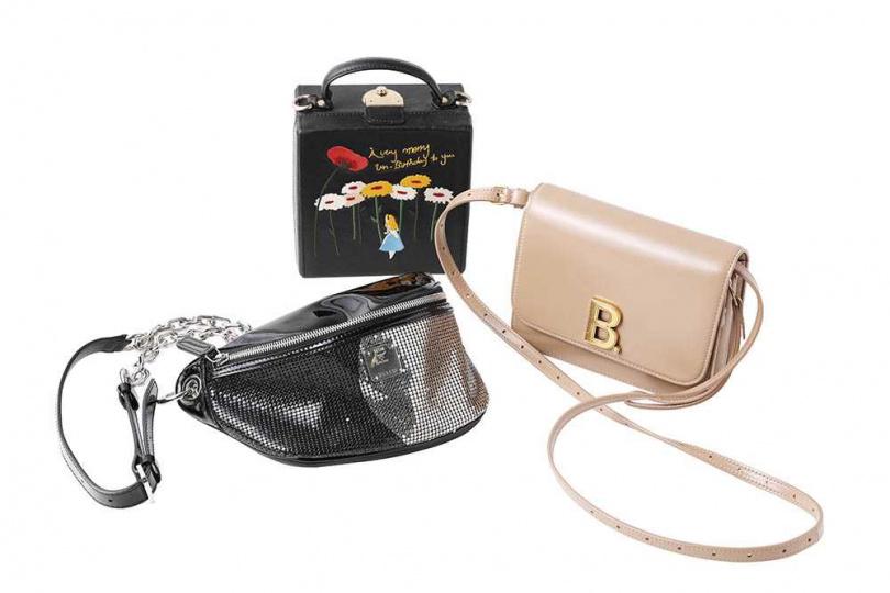 BALENCIAGA B. BAG/42,900元 HIGH CHEEKS 手袋(賈靜雯贈送) MCM 側背包(昆凌贈送)(攝影/戴世平)