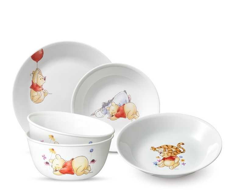 小熊維尼系列餐碗盤,每款台灣僅限量1,000個。