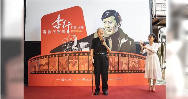 高齡90歲的李行導演今出席「行影‧不離-李行電影文物展」。(圖/國家電影中心提供)