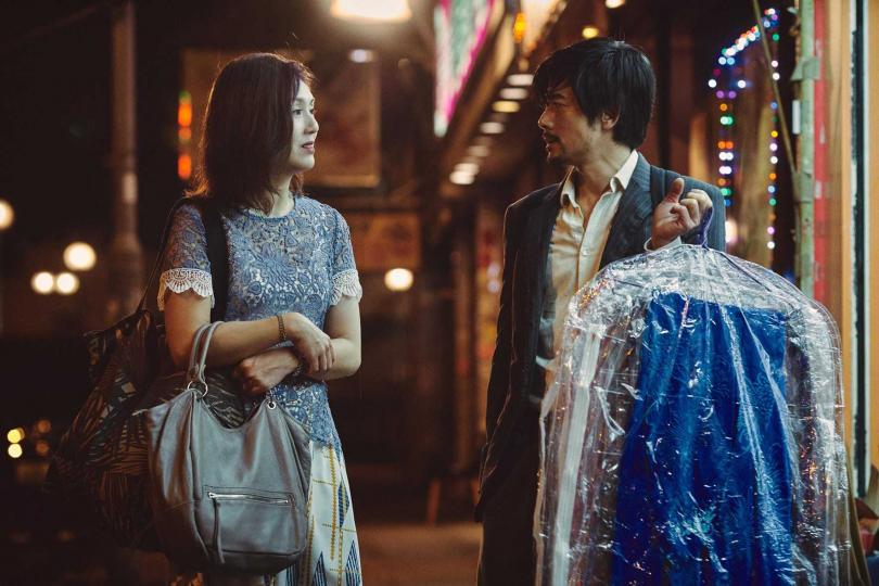 楊千嬅(左)與 郭富城在《麥路人》中一起合作。(圖/華映提供)