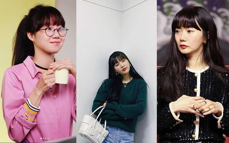 年齡層不同的韓國女星,最近因為戲劇或是拍攝需求,不約而同留起了有瀏海的逆齡黑長髮。(圖/rovvxhyo IG,doonabae IG,joy.redvelvet IG)