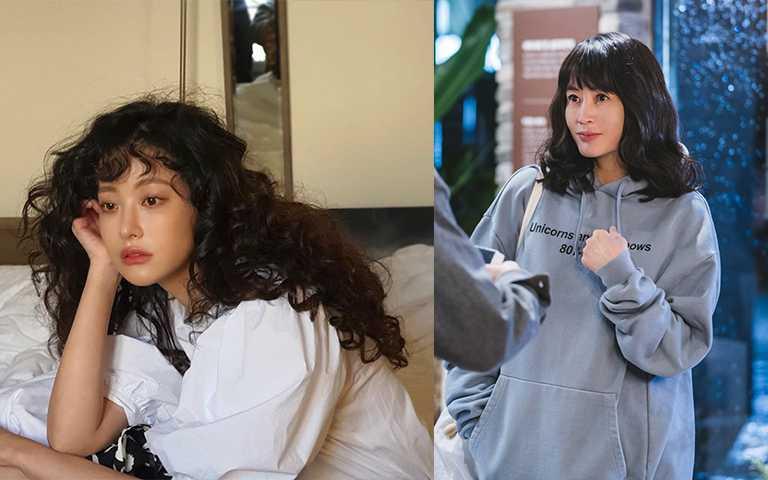 不同捲度的渣女頭捲髮,也有少女的感覺,對減齡有很大的幫助。(圖/ohvely22 IG,tvN)