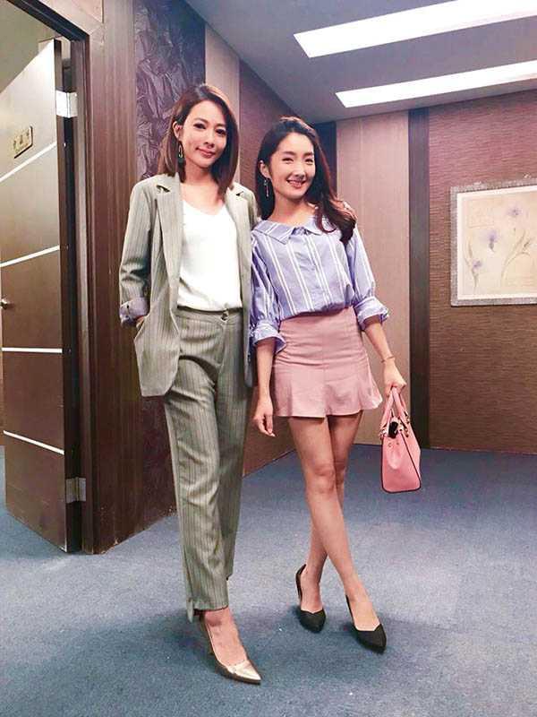 許瀞蔆在《金家好媳婦》演出議員助理顧筱莉,與高宇蓁有多場對手戲,演技頗受好評。(圖/亞樂演藝經紀提供)