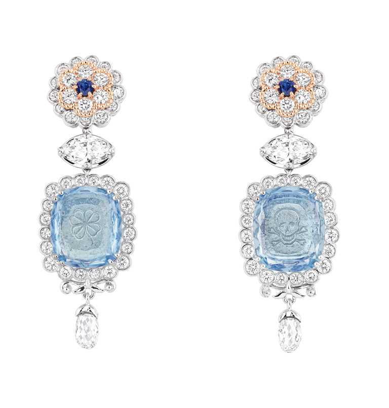 DIOR「Dior Joaillerie凡爾賽系列」高級珠寶,「Volupte Aigue-Marine」耳環。(圖╱DIOR提供)