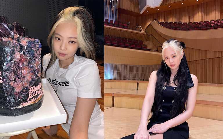 JENNIE以黑白髮回歸,雖然時髦但真的很難駕馭!(圖/jennierubyjane_ IG)