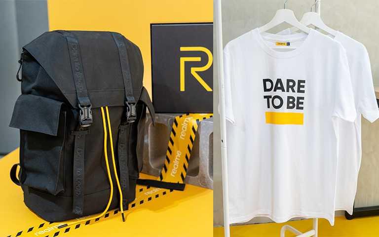 realme粉絲節推出期間限定商品realme玩家後背包,售價新台幣749元。(圖/realme提供)