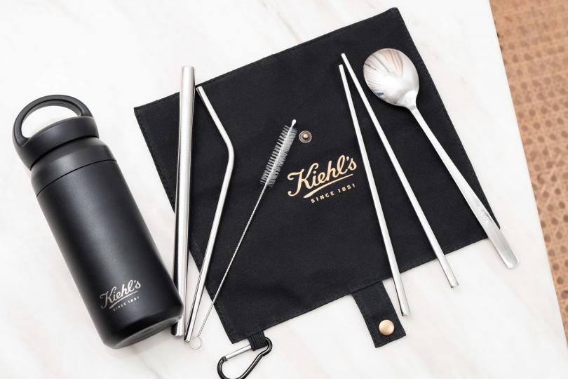 Kiehl's今年推出超黑潮時尚滿額贈『環保餐具水瓶組』(圖/品牌提供)