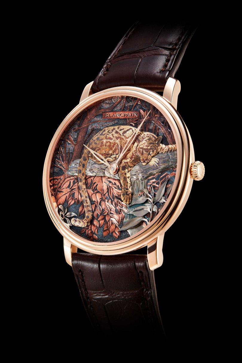 赤銅工藝腕錶--台灣雲豹。