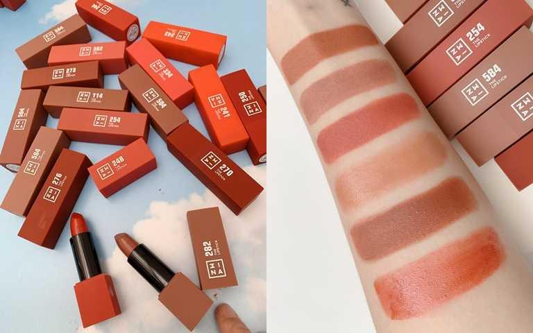 3INA磁久吻色唇膏 全18色 4.5g/590元  塗起來持色零負擔,又有#空氣雲朵唇美稱。(圖/吳雅鈴攝影)
