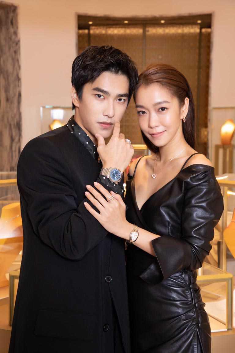 新生代演員曾敬驊、實力派女星李霈瑜,各自風格演繹寶格麗2021年度新錶。(圖╱BVLGARI提供)