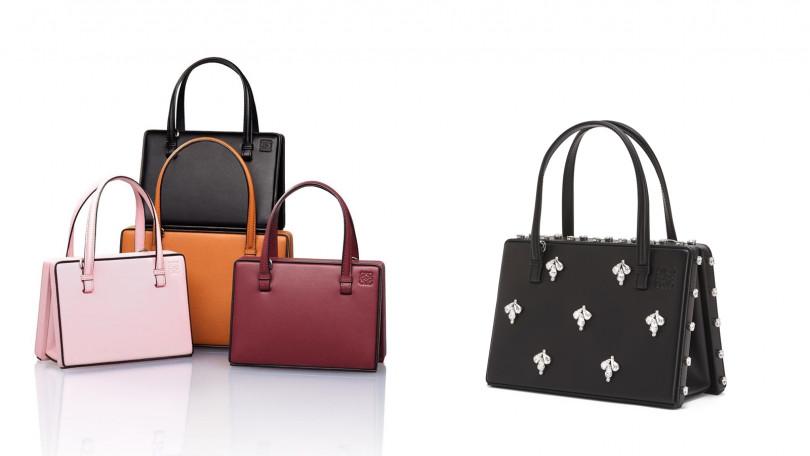 新色Postal Bag與以寶石鑲飾的輕奢款,都跟著新系列一起推出。(圖/LOEWE提供)