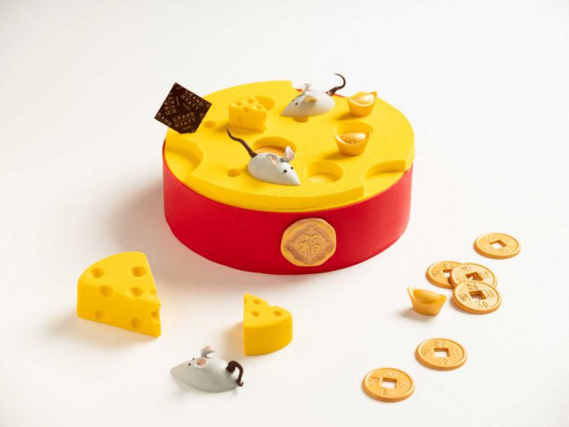 新春瑞鼠起司蛋糕。