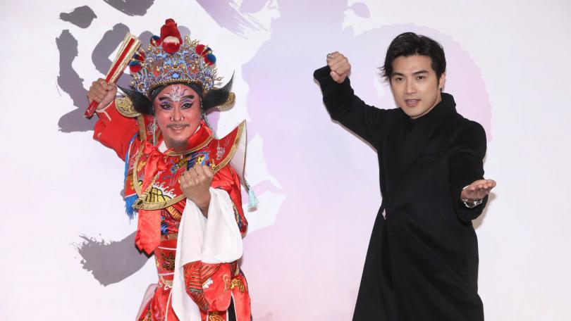 賀軍翔在劇中飾演鍾馗,開拍前還赴彰化水尾宮廟拜拜得到神明允許。(圖/林勝發攝)