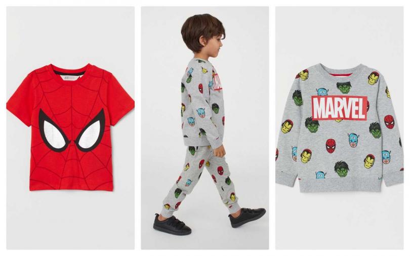 Marvel X H&M 漫威童裝聯名系列(左)349元 (右)499元(圖/品牌提供)