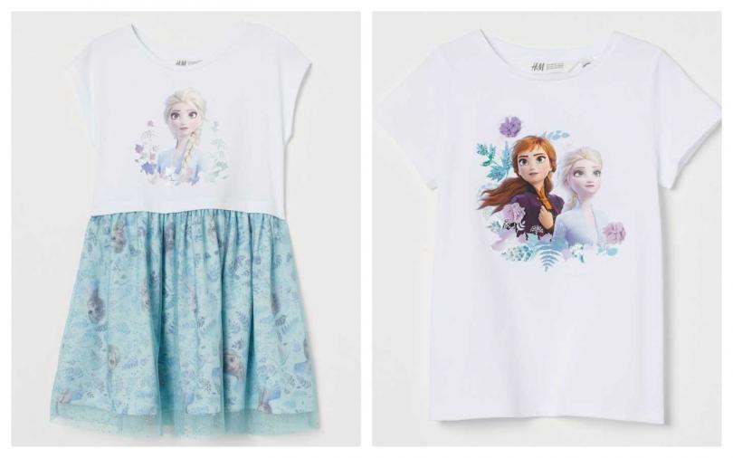H&M推出冰雪奇緣2童裝系列499元/349元。(圖/品牌提供)