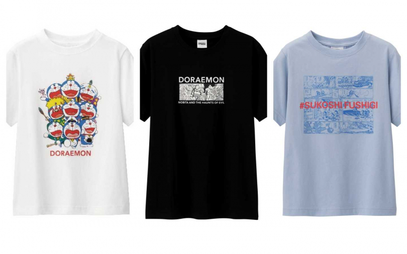 GU攜手日本雜貨品牌ASOKO,推出哆啦A夢聯名童裝系列。(圖/品牌提供)