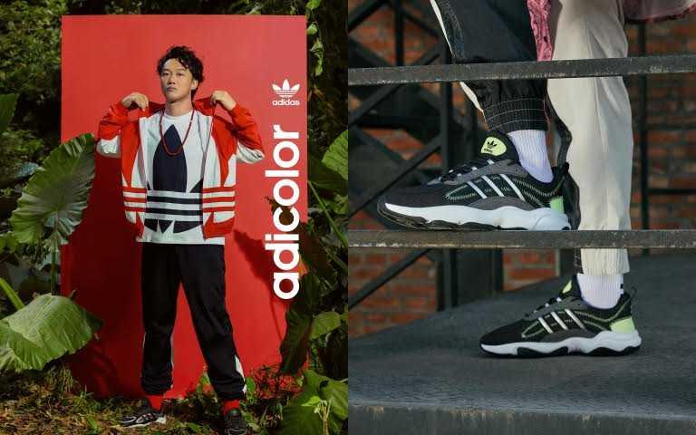 adidas Originals 黑底銀色流線HAIWEE/3,290元(圖/品牌提供)