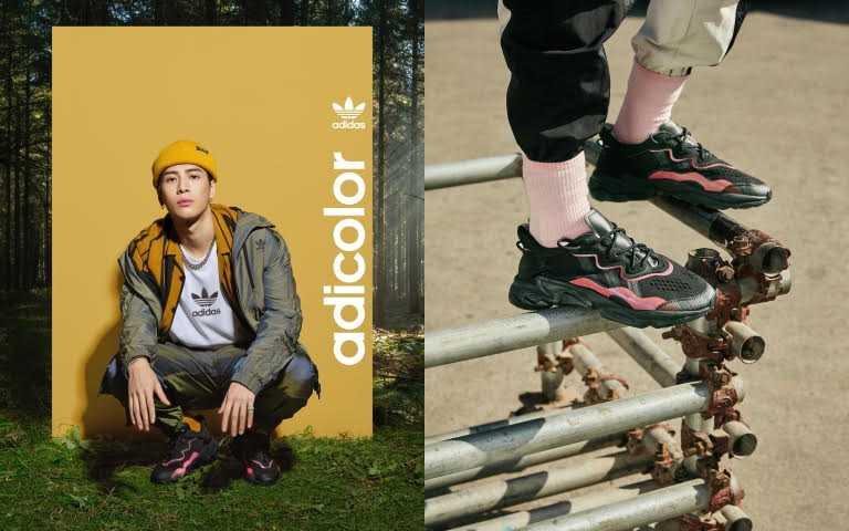 adidas Originals 黑底紅線OZWEEGO/4,290元(圖/品牌提供)