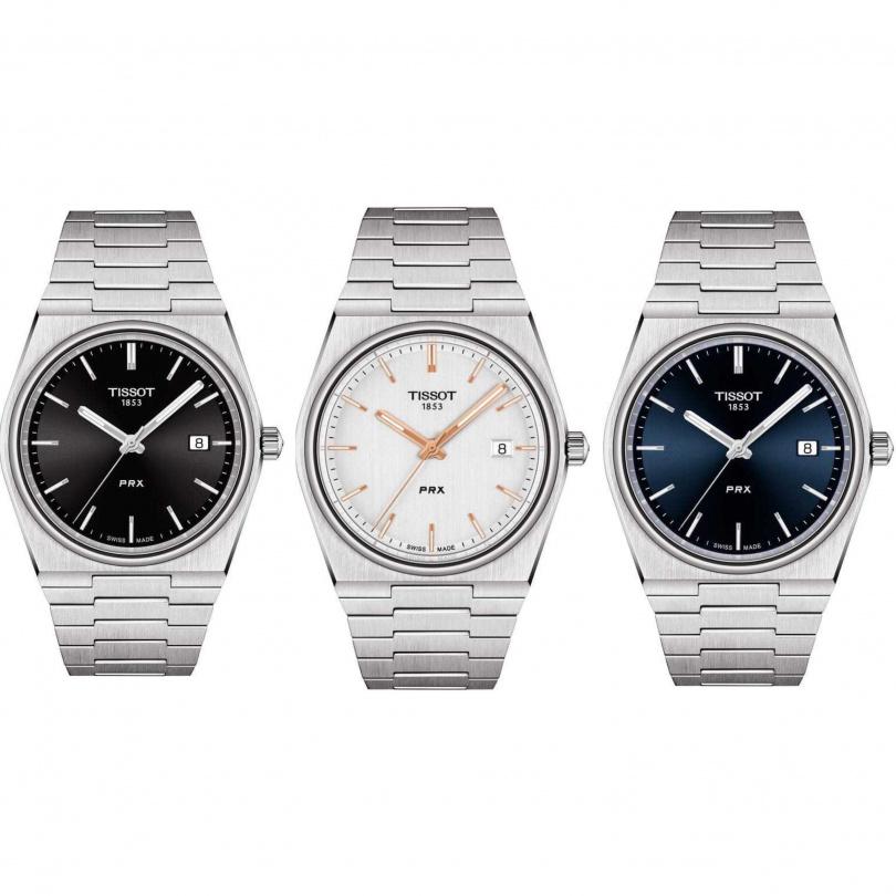 石英機芯、藍寶石水晶玻璃錶鏡、精鋼錶殼、 藍色太陽光芒紋錶面、防水100米(台幣11,300元)