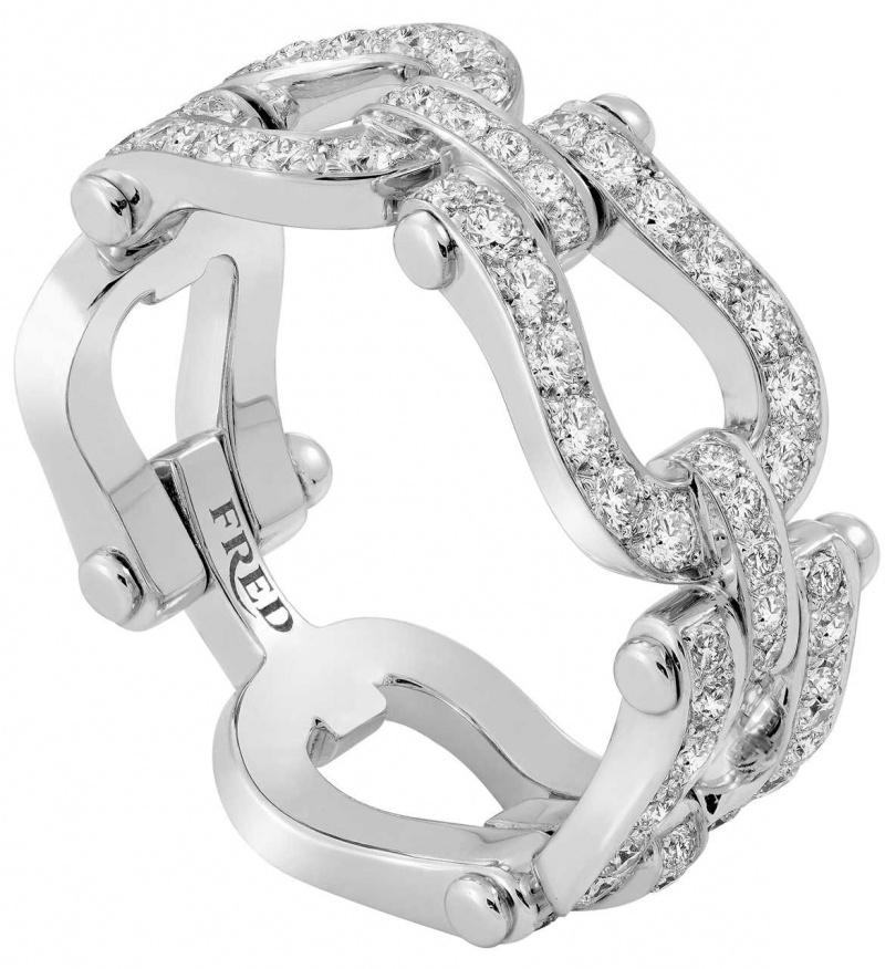 FRED「Force 10」系列,白金鑽石戒指╱271,500元。(圖╱FRED提供)