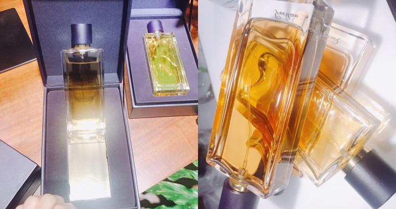 嬌蘭「L'Art & La Matière藝術沙龍」頂級訂製香水系列瓶身優美特別,外型洋溢高貴氛圍。(圖/黃筱婷拍攝)