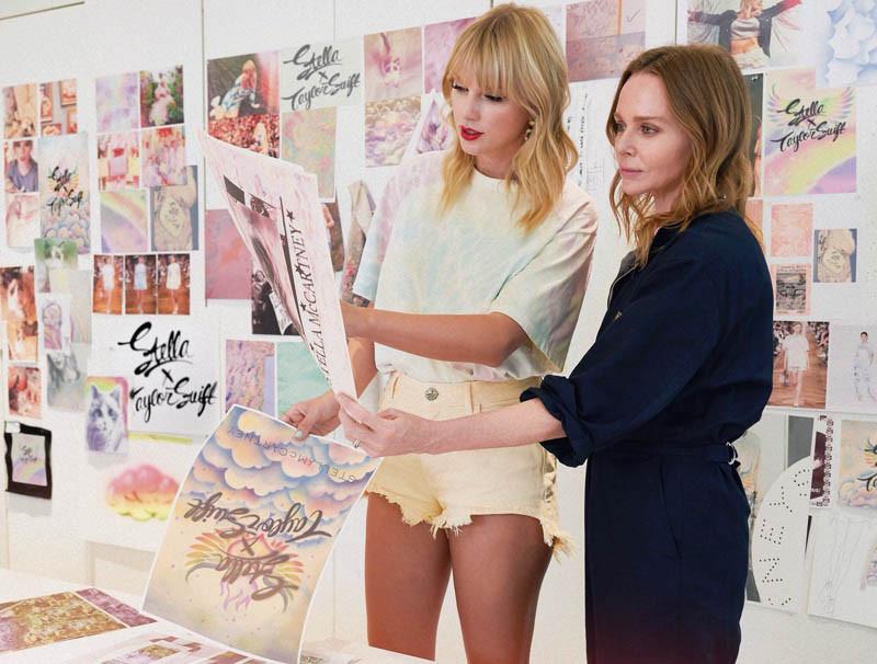 小天后泰勒絲(左)與Stella McCartney的好交情,促成本次合作。