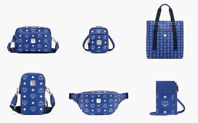 Surf the Web Blue經典藍則搶搭上2020年度代表色話題,獨特色彩鮮明的高感時尚單品!(圖/MCM)