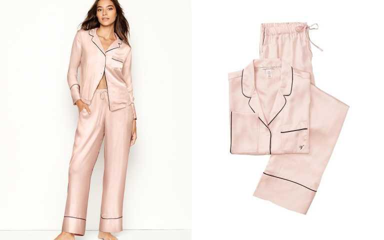 舒適不失時尚感的兩件式睡衣。(圖/翻攝自Victoria's Secret官網)