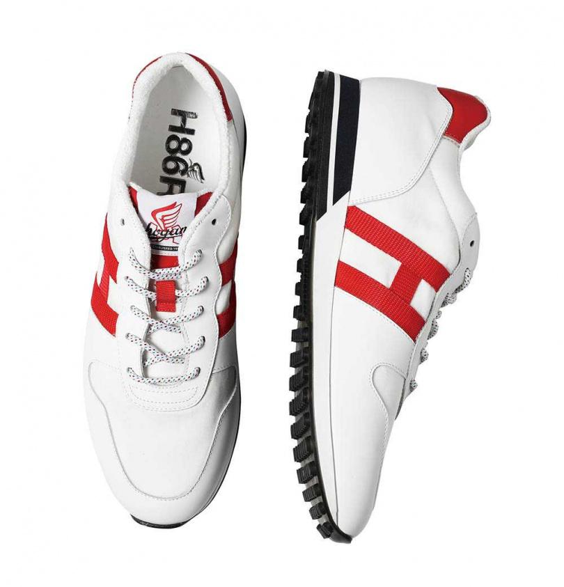 HOGAN H383皮革撞色休閒鞋/15,900元。(圖/戴世平攝)