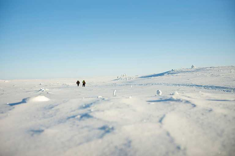 生態科學家奔波於DE BEERS位於加拿大的高秋桂(Gahcho Kué)礦區,致力守護自然環境。(圖╱DE BEERS提供)