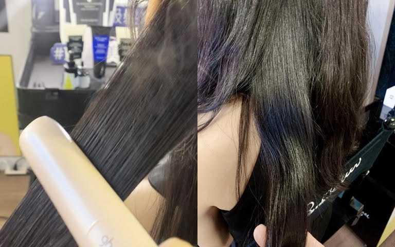 有了它使用溫度再高的加熱工具也OK,髮絲光澤一樣美翻天。(圖/吳雅鈴攝影)