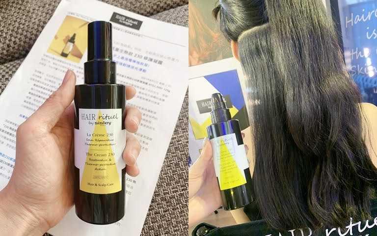 Hair Rituel by Sisley賦活重生熱啟230修護凝露125g/2,700元以前從來沒看過的隔熱髮品,又被稱為史上最強電棒捲救星!(圖/吳雅鈴攝影)