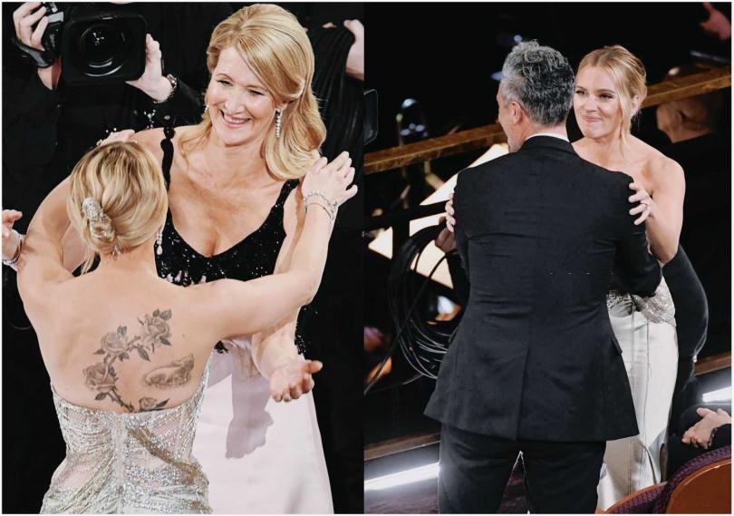 「黑寡婦」史嘉蕾喬韓森(Scarlett Johansson)這次在奧斯卡相當風光,不僅以《婚姻故事》入圍最佳女主角,也以《兔嘲男孩》入圍最佳女配角,但她都與獎項失之交臂,網友特別捕捉,她在與一同入圍的蘿拉鄧恩(Laura Dern)得獎後,以及導演塔伊加維迪提得獎時,都興奮的站起來擁抱,堪稱是典禮上最有風度的藝人。(圖/翻攝自Twitter)