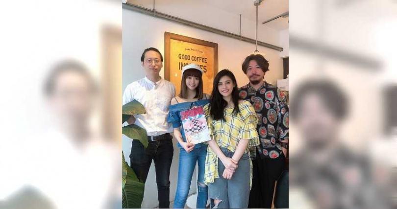 李若辳(左起)、成語蕎、夏宇童、鍾維恆拿下潛力劇本獎。(圖/伊林娛樂提供)