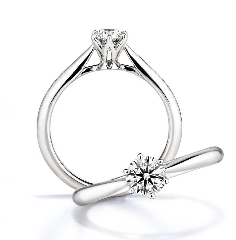 銀座白石「Saint Glare」訂婚鑽戒╱戒台22,000元起。(圖╱銀座白石提供)