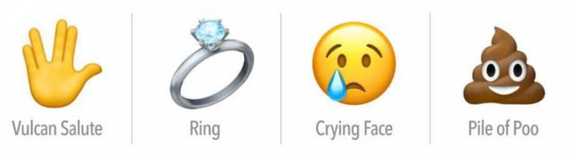 瓦肯手禮、戒指、哭臉、大便。