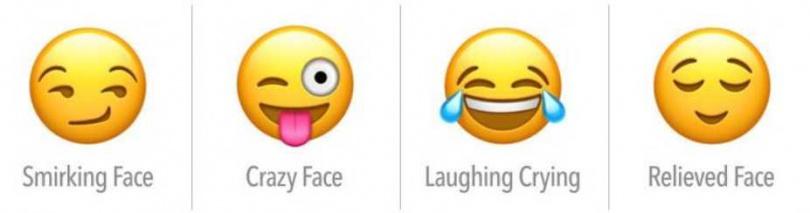 奸笑、瘋狂的臉、大笑、欣慰的臉。