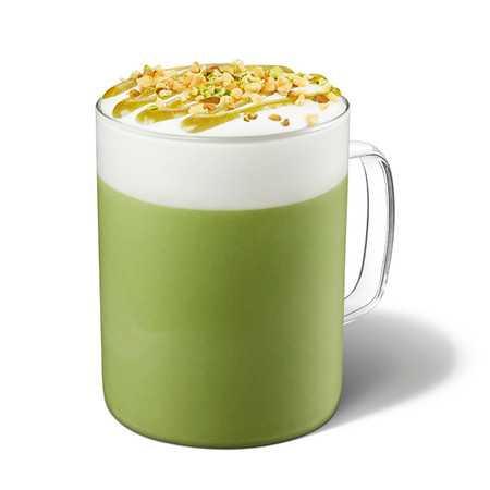 圖為「開心果抹茶那堤」。圖片來源:星巴克