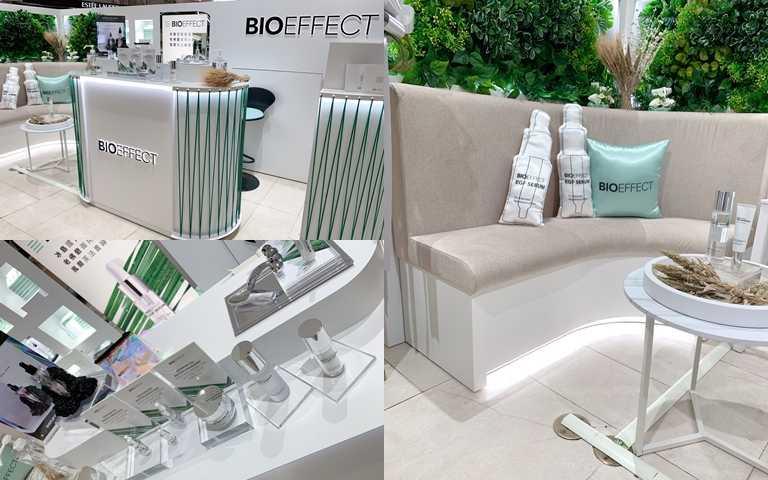 想買不必找代購!BIOEFFECT蓓歐菲台灣首家櫃點就位於台北SOGO忠孝館1樓,還設有座位區可以舒服的坐在這裡試用產品。(圖/吳雅鈴攝影)