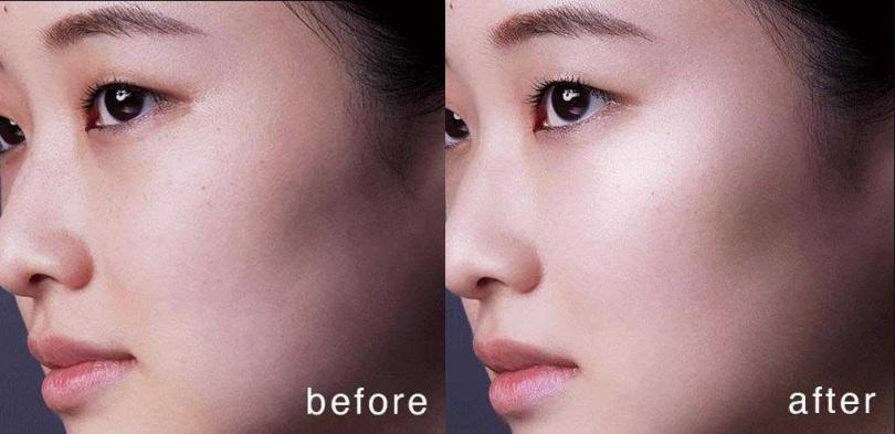 """全新智慧持妝校色科技,讓臉龐立即湧現""""高級感光暈""""。(圖/品牌提供)"""