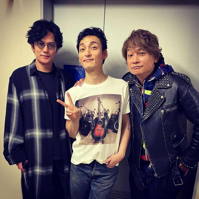 稻垣吾郎(左起)、草彅剛和香取慎吾已在2017年退出傑尼斯。(圖/翻攝香取慎吾IG)