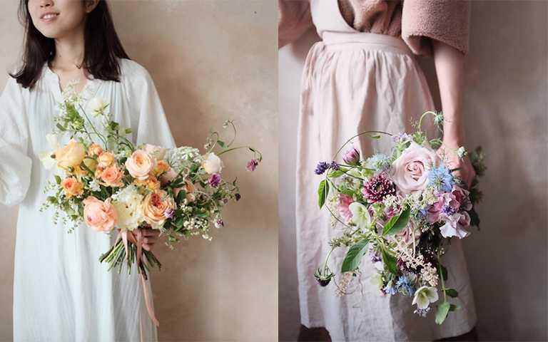 獨特的風格及線條流動感,讓花束像從野外採摘的一樣,散發自然的生命力。(圖/intothewild.fleurs IG)