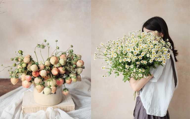 除了花市可以看到的花材,IG也常有盆栽或是果實出現。(圖/intothewild.fleurs IG)