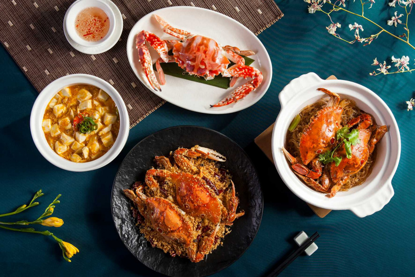 粵式料理辰園推出正宗港式秋蟹料理。(圖/喜來登大飯店提供)