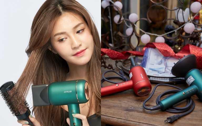 GPLUS 吹風經採用最新冷凝針技術讓頭髮吹乾後依舊水潤動人,快塑有型,而在冷凝水離子發動的過程中,負離子系統也會同步釋放出每秒高達千萬的負離 子,附著在毛鱗,中和頭髮上的正電,讓你的頭髮不容易毛躁,柔順梳理!(圖/品牌提供)