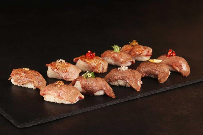 「莫內西餐廳」以美牛搭配握壽司,撞擊出火花。