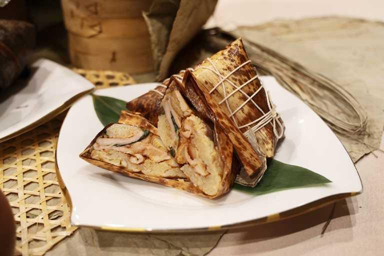 「塔香松阪豬肉粽」選用台灣人喜愛的松阪豬入餡。