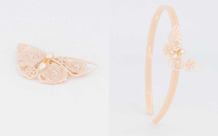 「蕾絲蝴蝶」系列有髮箍、仕女夾、豆扣夾三種款式。(圖/品牌提供)