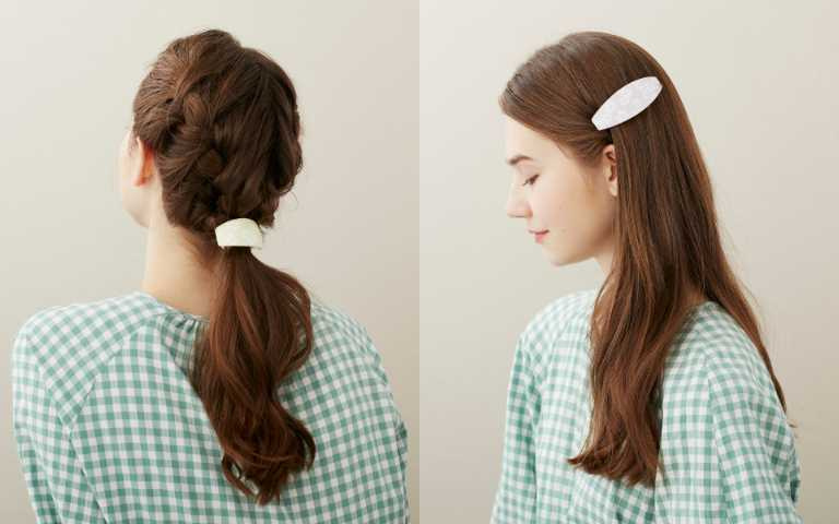 「花開朵朵」系列像朵朵可愛的小白花墜落在髮梢,鑲嵌其中如花蕊般的施華洛世奇小水晶閃耀著靈動的光芒,有抓夾、豆扣夾、髮束三種款式。(圖/品牌提供)